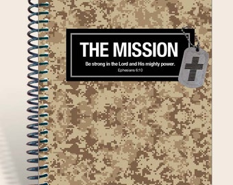 Desert Camo / Military Gift / Personalized Prayer Journal / Gift for Soldier