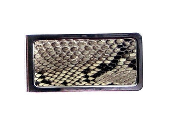 Natural Genuine Snakeskin Money Clip - by UNEARTHED