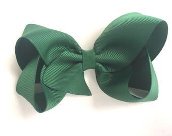 Dark green hair bow - hair bows, bow, hair clips, hair bows for girls, baby bows, hairbows, girls bows, toddler bows, boutique bows, bows