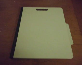 "Vintage Classification Medical File Folders 8 Fasteners Never Used 11.75"" x 9.5"" Chipboard Great For Altering Smashbook Etc."