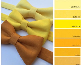 Yellow bow tie. Mustard yellow bow tie. Golden yellow bow tie