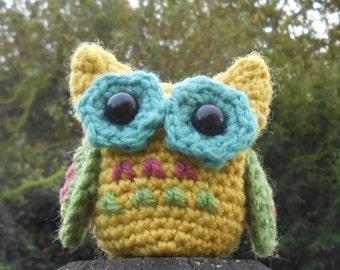 Little Owl CROCHET PATTERN Amigurumi, autumn fall decoration toy, stash buster, tiny woodland bird plush by TeaTimeYarnDesign