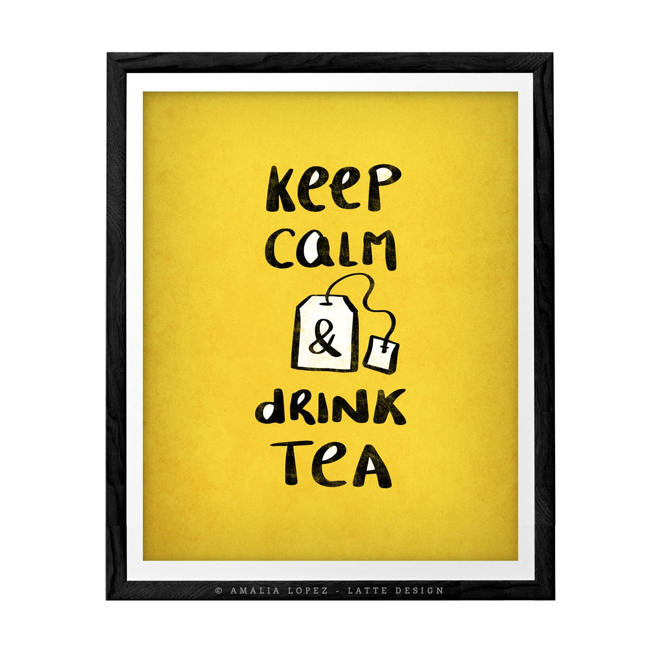 Keep calm and drink tea print keep calm poster British poster