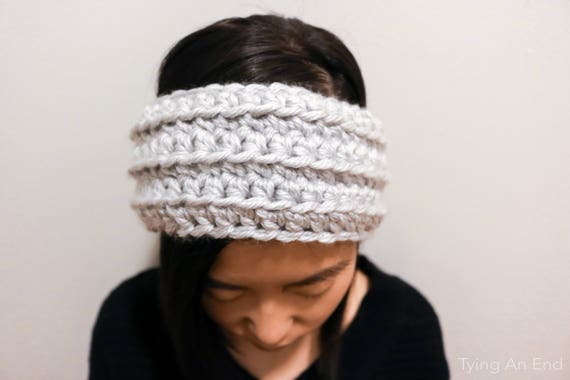 Eve Crochet Headband Crochet Pattern Pdf Pattern Chunky Yarn