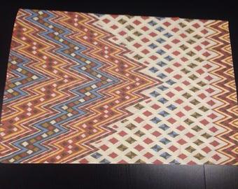 Amazing Vintage Native Southwest Pattern Pillowcase - Smithonian Institution Design zig zag Indian desert