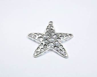 Starfish BR317 - 1 large charm in silver