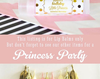 Princess Birthday Favors Princess Party Favor Princess Favor Princess Theme Birthday Favors Pink and Gold Princess Party (EB3031FY)  16| pcs