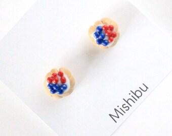 Red&Blue Berry Tart Earrings