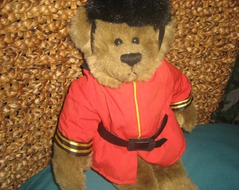 15 inches tall British Bobby/Queen's Guard/Royal Guardsman Teddy Bear