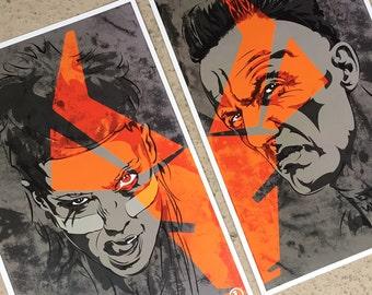 Die Antwoord 2 Print Digital Art Print Set