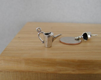 Garden  Watering Can Sterling Silver Charm