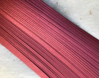 Shimmer Mars Red~ Moravian German Froebel Paper (52 strips)
