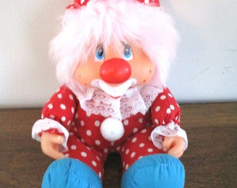 """Kippy N Friends 8"""" Clown by Applause a Division of Knickerbocker Toys 1983"""