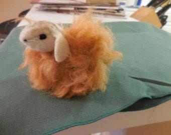 Organic Handcrafted Sheep. Handmade. One of a Kind