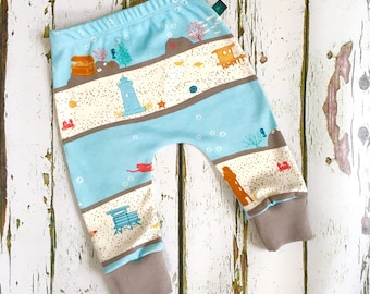 NEW! Baby clothes, baby leggings, organic baby leggings, under the sea leggings, kids leggings, baby trousers, baby pants, baby g