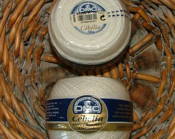 DMC Cebelia Crochet Cotton No 10 Color No B5200 Lot No 232627 White Made in France Crochet