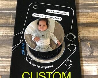 Custom Pop socket grip, phone holder, POP SOCKETS ,send me your image,pop phone holder, pop phone stand,pop socket, popsocket gift