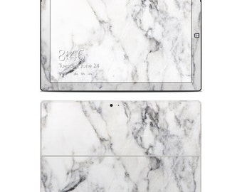 Surface Skin - White Marble - Sticker Vinyl Decal - Fits 2, 3, 4, Pro, RT