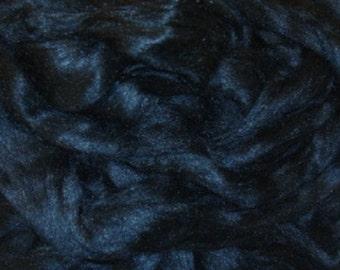 Tussah Silk/ Dyed Black/ Needle Felting/ Blending Fiber/ Spinning/ Wet Felt/ Add In Bling/ Silk/ Shine/ Lucious/ Bamboo/ 1 oz/