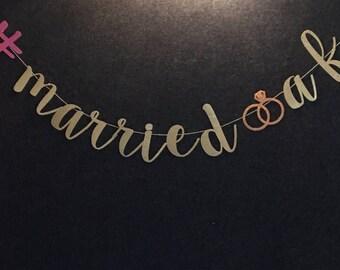 Married AF Banner, Shower Banner, Wedding reception banner, Bachelorette Party Banner, Reception Banner, Engagement Banner, Glitter Banner