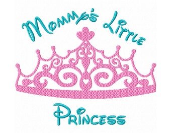 Mommy's Little Princess  Fill Machine Embroidery DESIGN  N0. 30