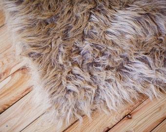 Brown Faux Fur, Newborn Photo Props, Basket Filler, Basket Stuffer, Newborn Blanket, Newborn Props, Photo props, Fur, Baby Props