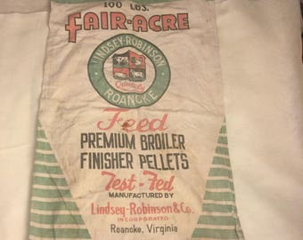 Fair-Acre Feed Sack