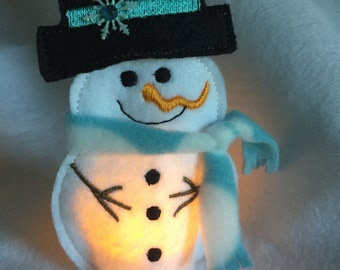 Snowman Tea Light