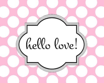 Set of ten personalized notecards