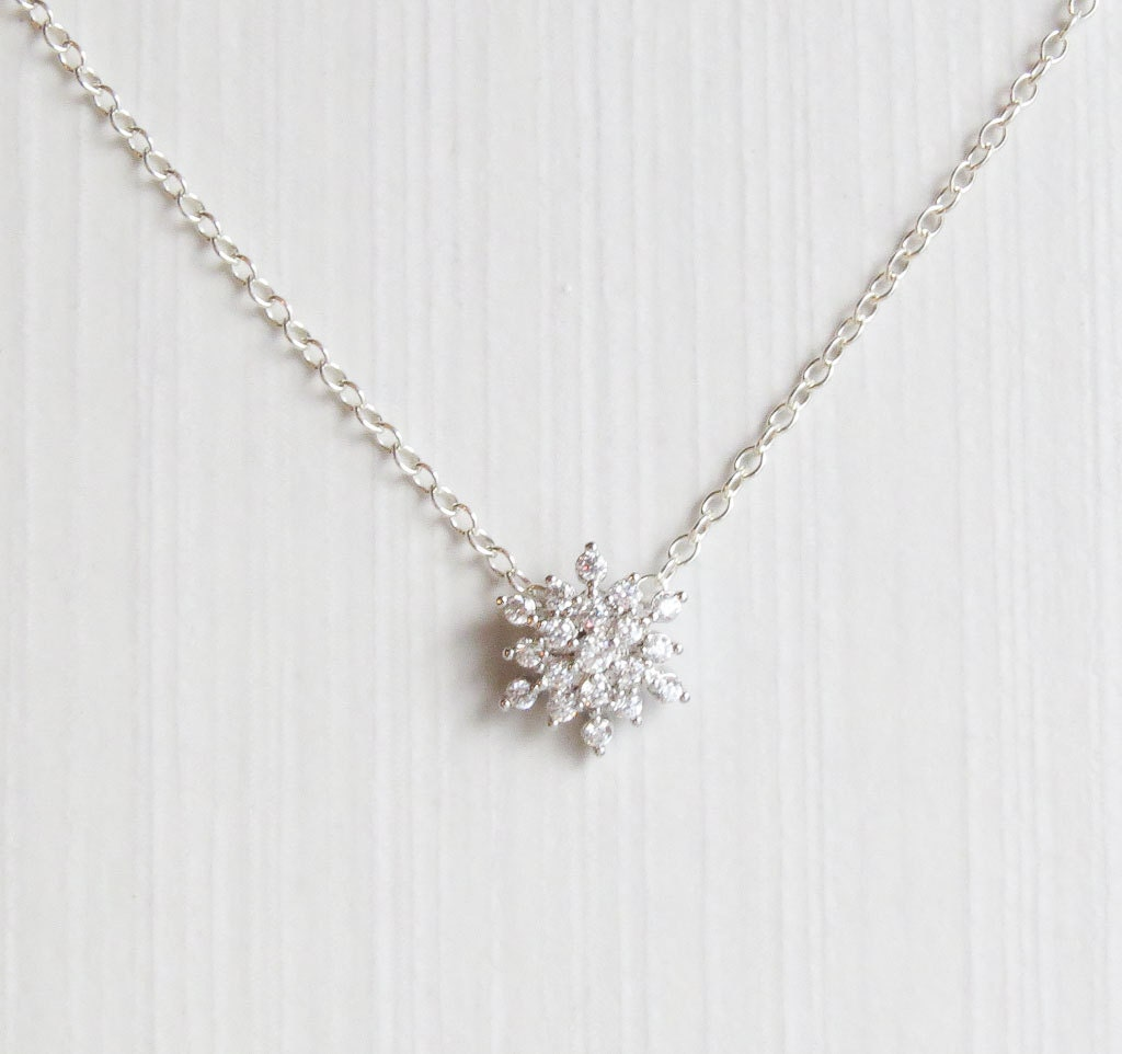 snowflake product card necklace by personalised lilycharmed original message with charm silver charmed lily