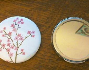 Cherry Blossom Handbag Mirror 58MM