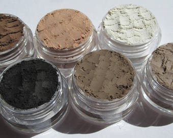 6  Piece Matte-Semi-Matte Vegan Eyeshadow Makeup Gift Set | Cruelty-Free | Loose Powder Mineral Eye Shadows Gift Set | Gifts for Her
