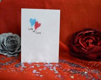 Handmade Lots of Love Card