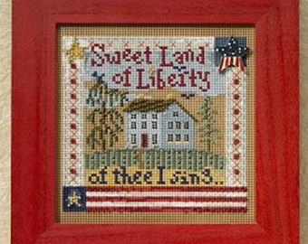 MILL HILL Buttons & Beads Autumn Series - Sweet Liberty MH14-8204 Counted Cross Stitch Kit