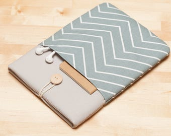 "Macbook 12 inch case / MacBook 12 inch sleeve, Custom laptop sleeve, 12"" laptop - light chevron ash"