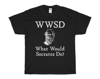 What Would Socrates Do Philosophy Cotton Tee Shirt