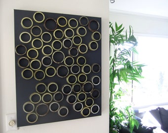 Dark Grey and Metallic Wall Art