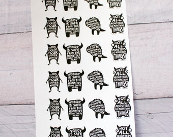 Mental Health Monsters Planner stickers
