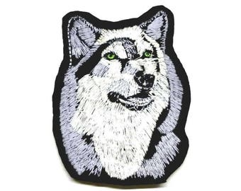 Female Wolf Patch, Grey Wolf Iron on Patch, Wolf Sew on Patch