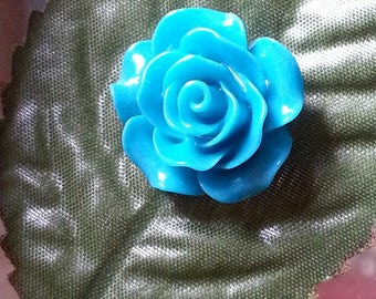 cabochon resin Blue rose-shaped 18 ~ 20x9mm