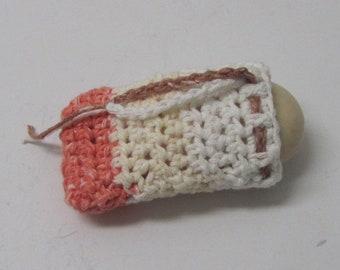 Soap Saver Soap Sack, Crochet Soap bag, Cotton cloth