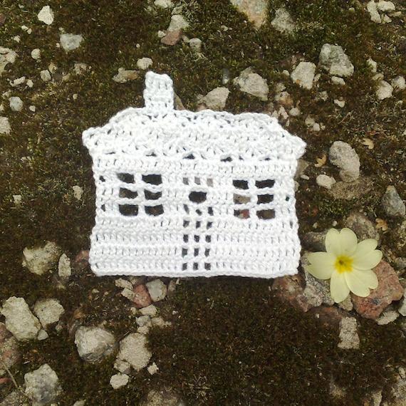 Häkeln Sie Haus kleine Verzierungen häkeln Motiv Home Sweet