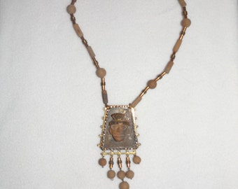 Mexican Mixed Metal Tribal Necklace
