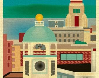 Halifax Print, Halifax Skyline, Halifax Art, Canada Print, Halifax Giclee Print, Halifax Art, Halifax vertical art, style - E8-O-HAL