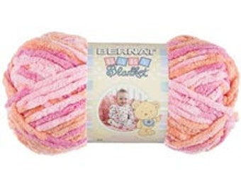 Yarn - Bernat Baby Blanket - Baby Pink, Pitter Patter, Little Cosmos, or Little Boy