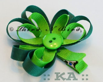 Shamrock Clover St Patrick's Day Hair Clip Ribbon Sculpture Instruction Set