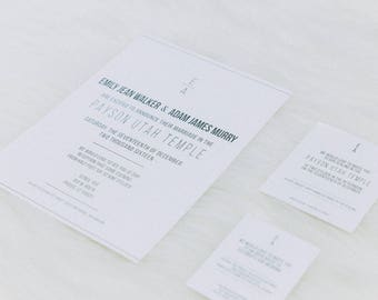 Wedding Invitations Printed From Your Design File - Includes FREE A-7 Envelopes and FREE Shipping!