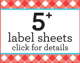 SAVE money on 5 or more sheets of canning jar labels with this listing only, bulk canning labels, discount labels jam jar stickers