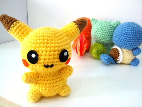 Amigurumi Patterns Pikachu : Amigurumi pikachu pdf pattern instant download