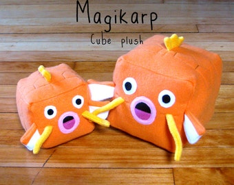 JULY PREORDER Pokemon Magikarp cube plushie stuffed animal toy cute decor nintendo geeky nerdy video game square anime character doll